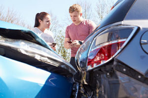 Exchanging info after a car accident